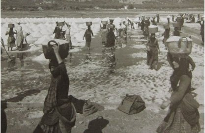 Lefkada Women at work in the saltpans