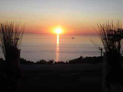 Lefkada sunset in Athani