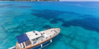 Wood Luxury Motor Boat Lefkada