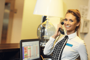 Ask the receptionist or concierge