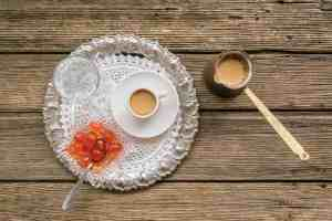 Greek coffee with a traditional sweet treat