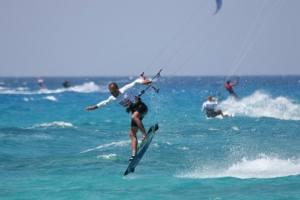 Kitesurfing in Lefkada