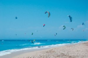 Kitesurfing in Windmills in Lefkada
