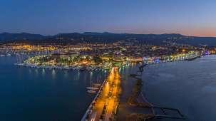 Lefkada town at night
