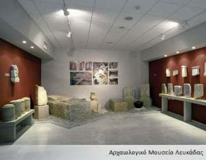 The exhibits of Archeological Museum in Lefkada