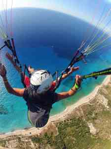 Paragliding above Kathisma beach!