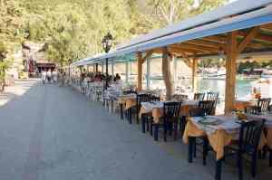 Tavernas by the sea in Vasiliki Lefkada