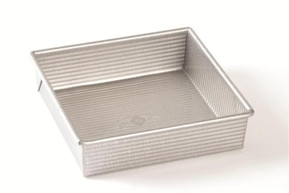 Choose a Recycled Steel Square Cake Pan for easy baking. Non-stick silicone interior. Available at Lehmans.com or Lehman's in Kidron, OH.
