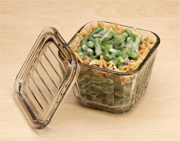 Glass baking and storage dish