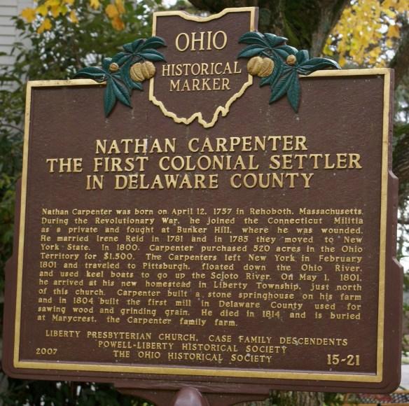 Carpenter Marker, Delaware, Ohio