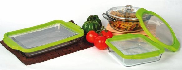 Glass Bakeware with Storage Lids