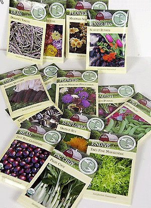 Heirloom seeds in packets from Lehmans.com.