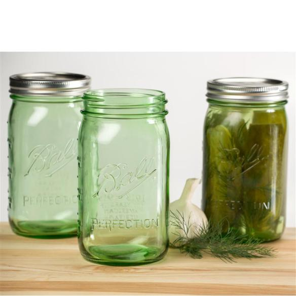 Limited Edition Ball Collectible Green Jars