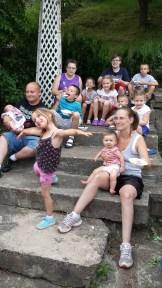 All the cousins enjoying Conaway ice cream.