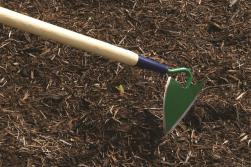 The Furrowing Hoe has a very fine point, which works well around small, young plants and flowers. At Lehmans.com or Lehman's in Kidron, Ohio.