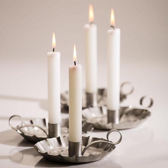 6 Inch White Dripless Candles