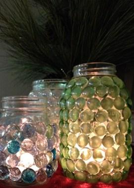Beeswax tealights, Ball® canning jars