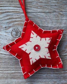 blanket stitch start ornament