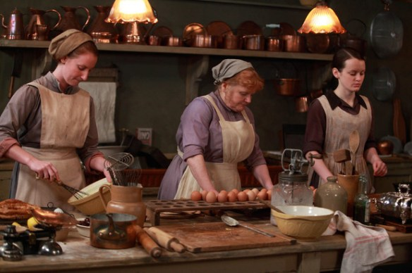 Many of the kitchen items shown on Downton Abbey are still preferred today by modern cooks who want non-electric, old-fashioned, reliable tools for their kitchens. Photo Source: confoundedcook.blogspot.com