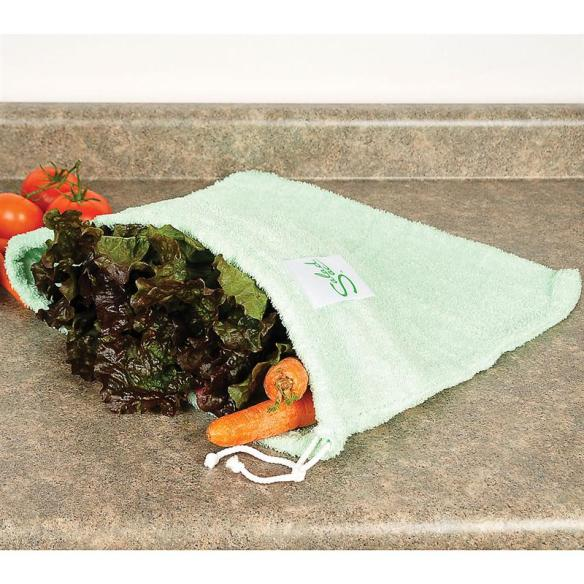The Salad Sac keeps lettuce, herbs and vegetables fresh for days! At Lehmans.com and our store in Kidron.