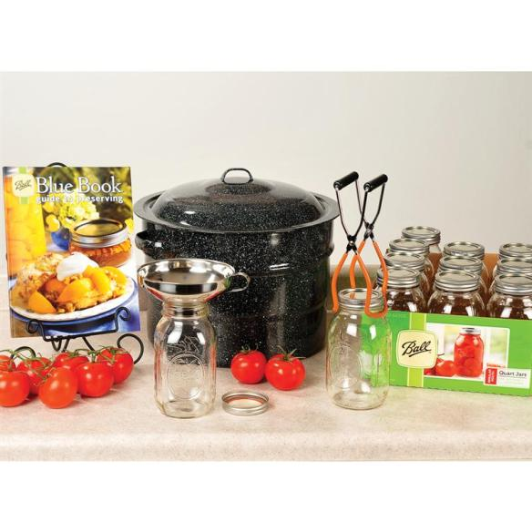 This kit contains everything you need to start canning this summer! At Lehmans.com and our store in Kidron, Ohio.