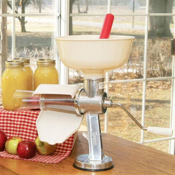 Nothing makes homemade applesauce and tomato sauce easier than the Roma food mill. At Lehmans.com and our store in Kidron, Ohio.
