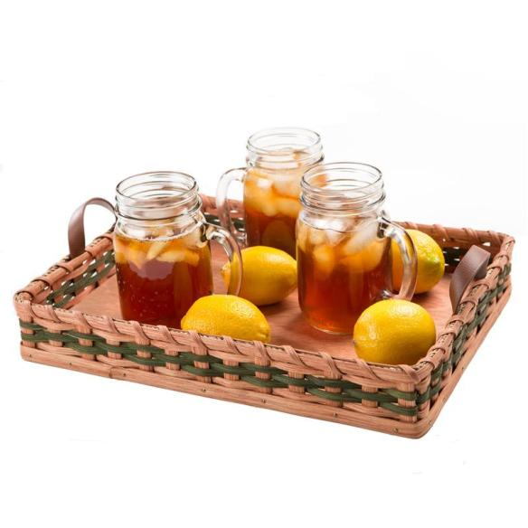 Handmade by the Amish, our serving tray adds rustic charm to your picnics, parties and family dinners. At Lehmans.com and our store in Kidron, Ohio.