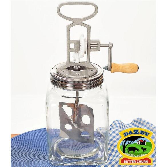 Lehman's has redesigned and resurrected the old beloved Dazey churns of the past - now easier to use than ever. At Lehmans.com and our store in Kidron.