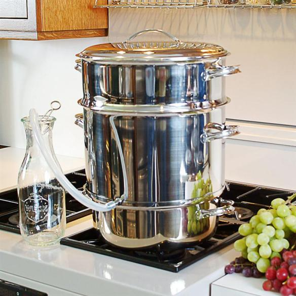 Our stainless steam juicer does all the work and makes fresh juice from berries, grapes and other soft fruits. At Lehmans.com and our store in Kidron, Ohio.