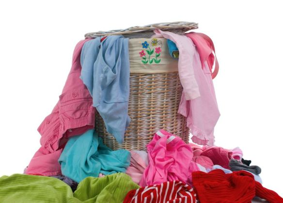 Saving money on your family's laundry can be as simple as training them to wear clothing more than once.