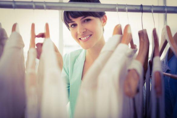 woman with wardrobe