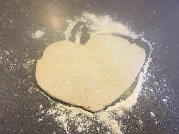 heart shape pie dough