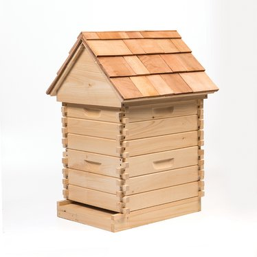 log cabin style beehive kit