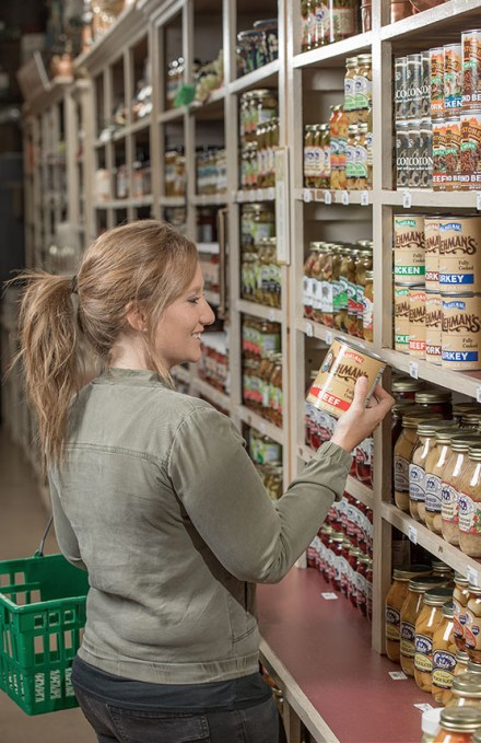 Canned Food in Pantry