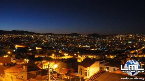 Sucre by night, Bolivie