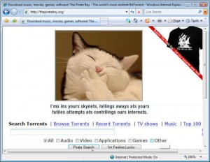 Lolcat The Piratebay is Back