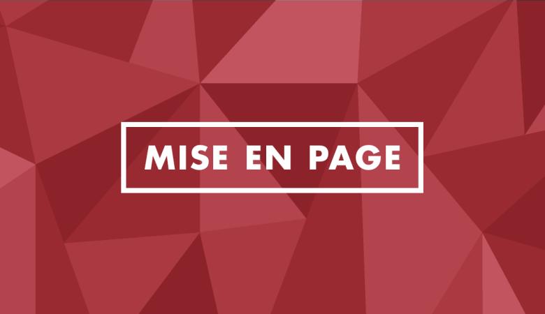 Outil de gestion - Mise en page