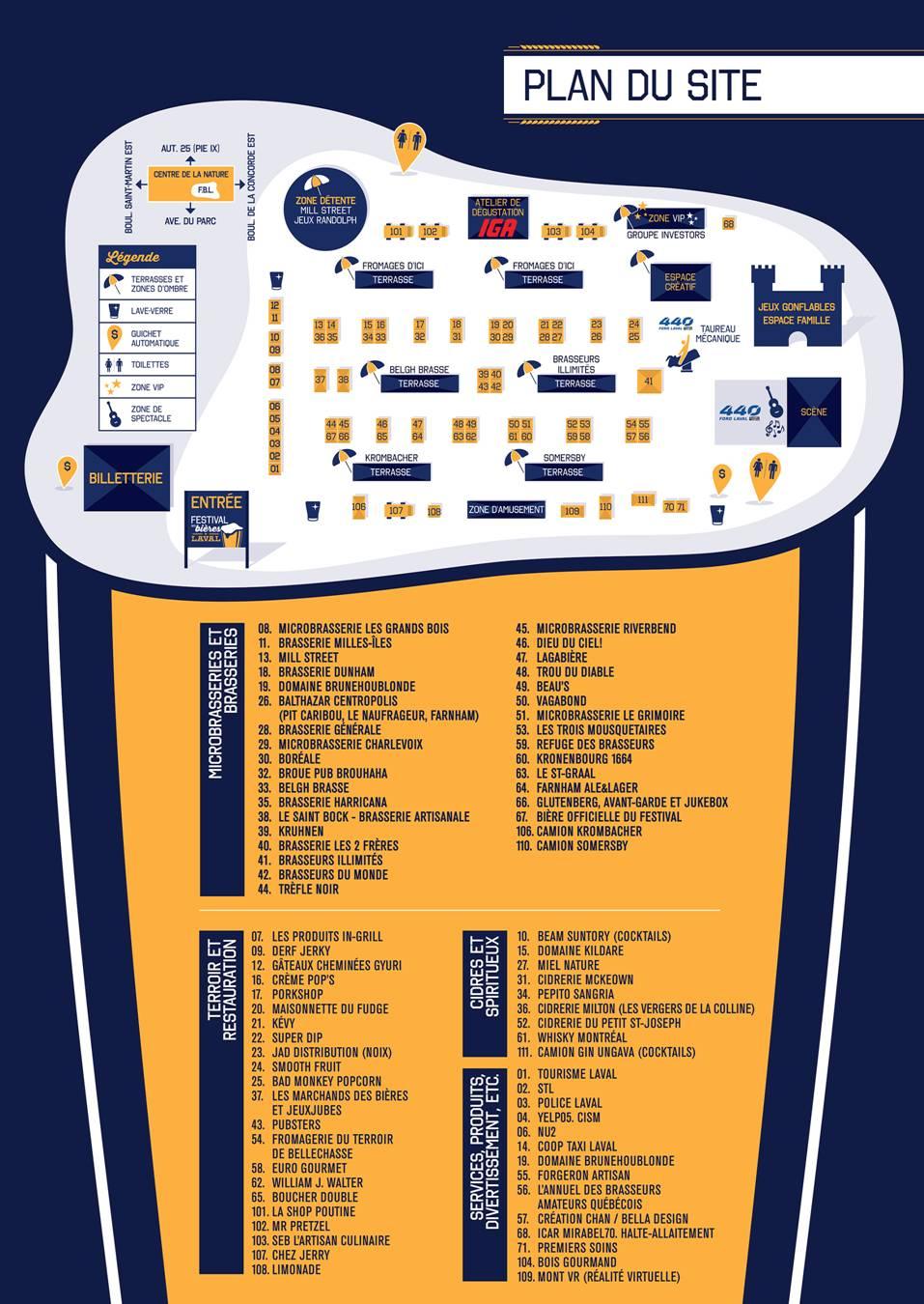 Festival des bières de Laval (plan)