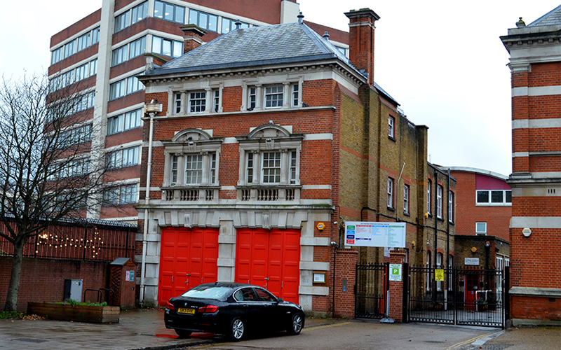 Tottenham ex Middlesex Fire Brigade Station.  Opened in 1903 and Closed in 1966