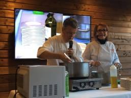 Démonstration culinaire - Christine Rassat et Bernard Gay - Marché des Trésoms Annecy