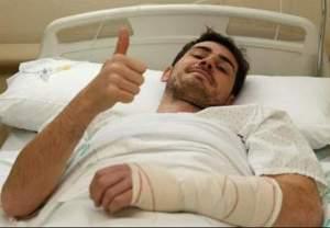 Casillas tras la operación