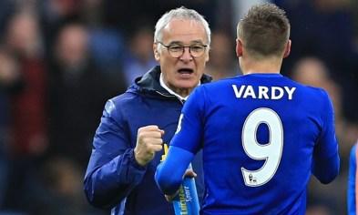 Claudio Ranieri y Jamie Vardy