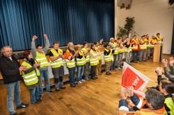 Die Streikenden von Amazon- Werne stellen sich vor. Verdi amazon Streik in Werne am 24.09.2014. Foto © Dietrich Hackenberg - www.lichtbild.org