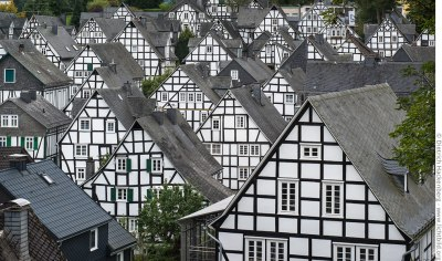Fachwerkhäuser - Altstadt von Freudenberg. Foto Dietrich Hackenberg