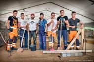 Auszubildende junge Männer. Ausbildungszentrum der Bauindustrie in Kerpen. Foto Dietrich Hackenberg