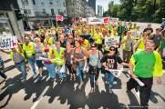 Verdi Handel NRW - Zentrale Streikveranstaltung Einzel- und Großhandel in Düsseldorf Hofgarten am 2. Juni 2017. Foto Dietrich Hackenberg