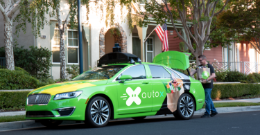 Photo of AutoX Driverless Delivery Vehicle