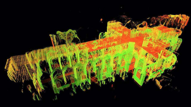 Notre Dame Point Cloud Collected by Andrew Tallon - Courtesy of Vassar College