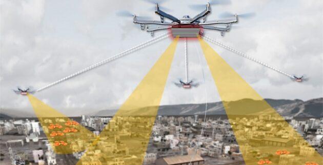 Sketch of DARPA Testing Drone Dragnet