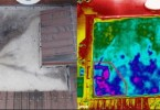 point cloud image Thermal Imagery Captured with Drone